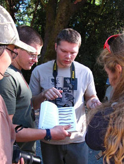 Brian with students in field course